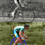 1990 jan 13 - My first bicycle race - colourised