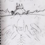 Aliens Retro Poster - Initial Sketch