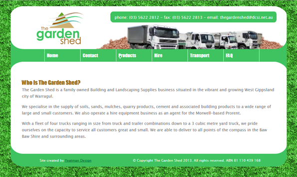 The Garden Shed Website