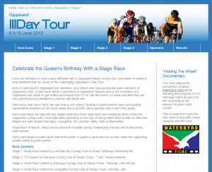 2013 3 Day Tour Website