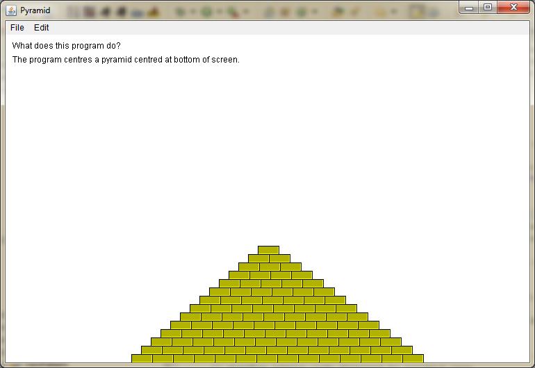 Screen shot of Pyramid V1.1 output