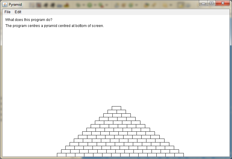 Screen shot of Pyramid output