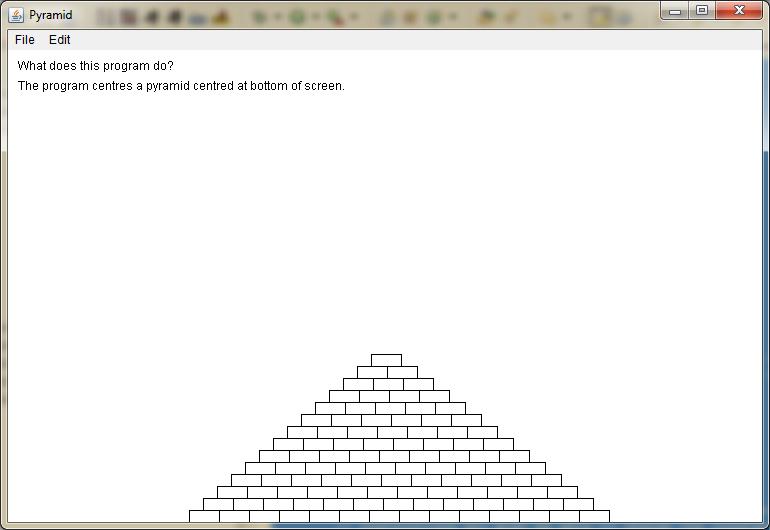 Screen shot of Pyramid output
