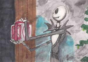Jack Skellington in Ink & Wash and Copic Markers
